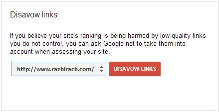 disavow links