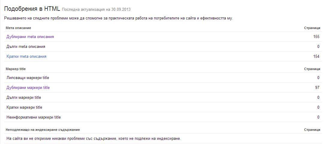 html improvements
